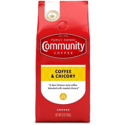Community Coffee Coffee & Chicory Medium-Dark Roast Ground Coffee - 12oz