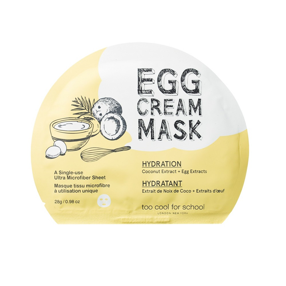 Image of too cool for school Egg Cream Hydration Face Mask - 25g