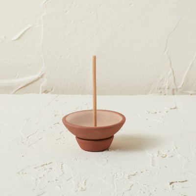 75ct Incense Sticks with Terracotta Plate Holder Pink Wooded Rose - Opalhouse™ designed with Jungalow™