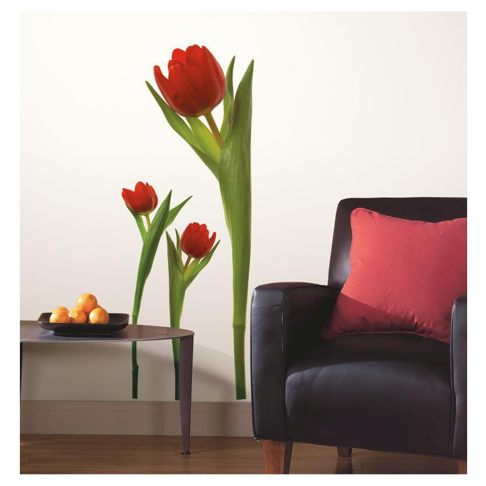 RoomMates Tulips Peel & Stick Wall Decals, Multi-Colored