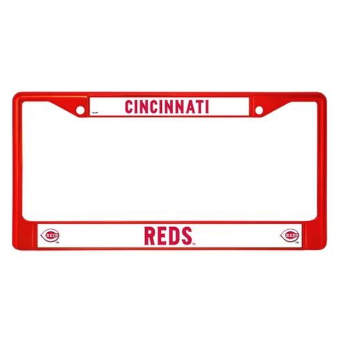1 Cincinnati Reds Chrome Automobile License Plate Frame