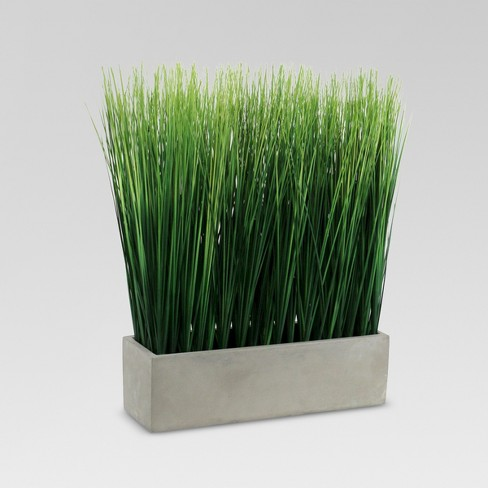 Artificial Grass In Ceramic Pot Large Threshold Target