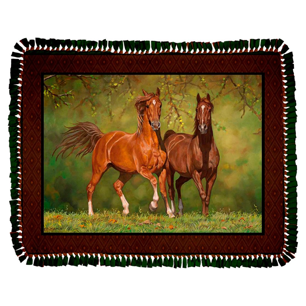 Wild Wings Noble Stature Fleece Throw Kit, Multi-Colored