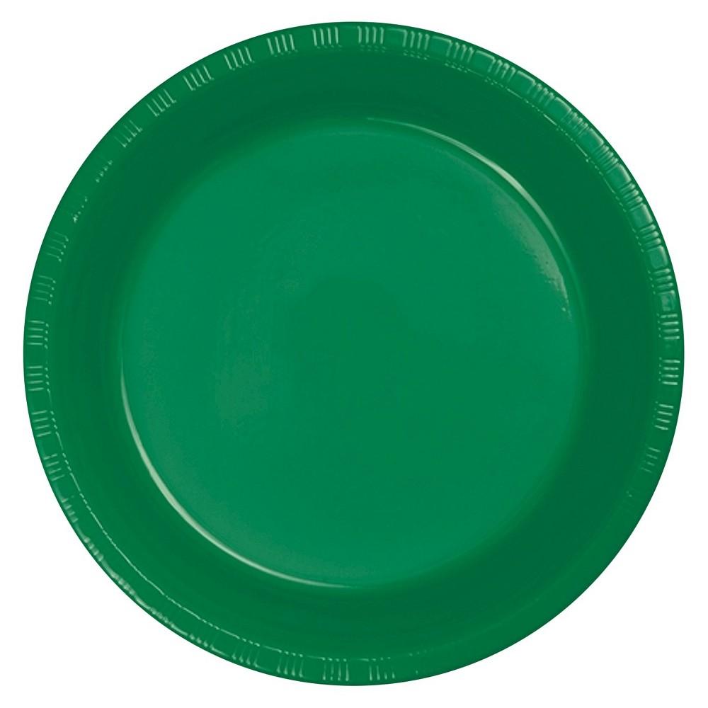 Emerald Green 9 Plastic Plates - 20ct
