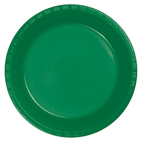 "Emerald Green 9"" Plastic Plates - 20ct - image 1 of 1"
