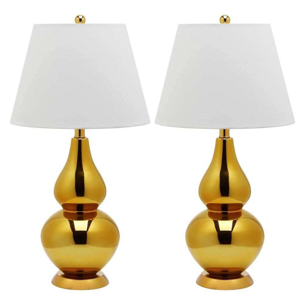 Table Lamp - Gold/White - Safavieh