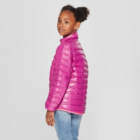 Girls  Down Puffer Jacket - Cat   Jack™ Purple   Target cc756fe45