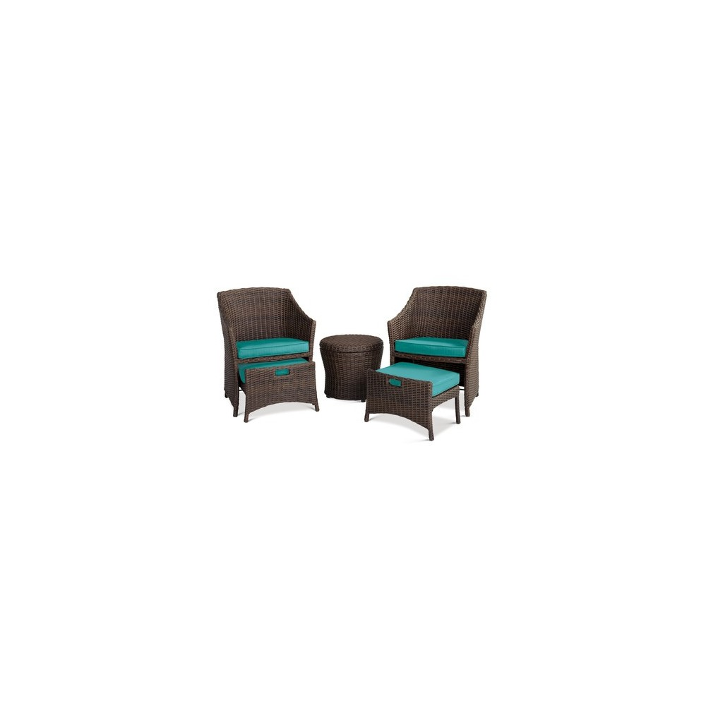 Amazing Belvedere 5Pc Patio Chat Set Aqua Threshold Onthecornerstone Fun Painted Chair Ideas Images Onthecornerstoneorg