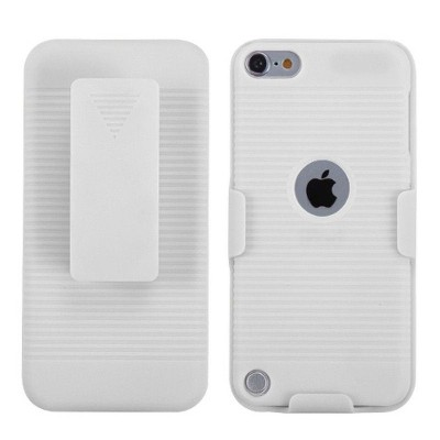 MYBAT For Apple iPod Touch 5th Gen/6th Gen White Hard Rubber Case Cover Holster
