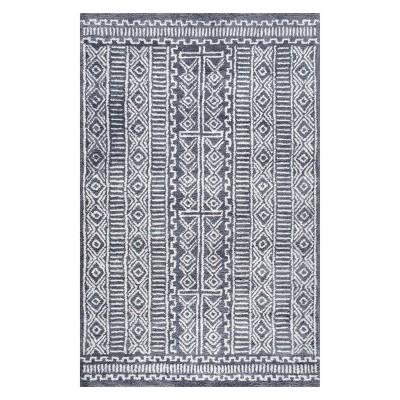 5'x8' Solid Area Rug Gray - nuLOOM