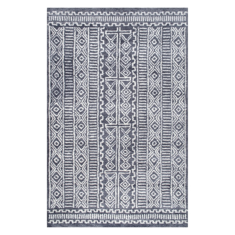 5'x8' Solid Area Rug Gray - nuLOOM