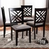 4pc Caron Finished Wood Dining Chairs - Baxton Studio - image 2 of 7
