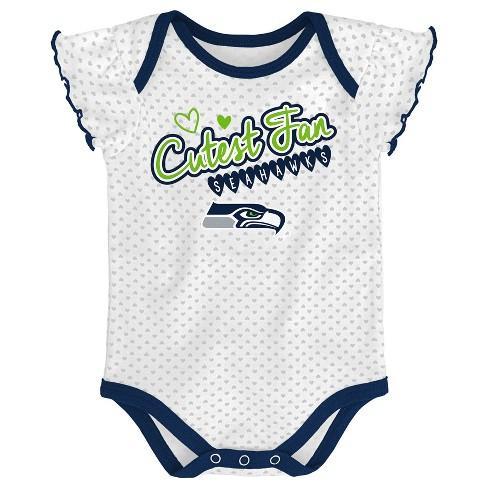 Nfl Seattle Seahawks Girls Newest Fan 3pk Bodysuit Set Target
