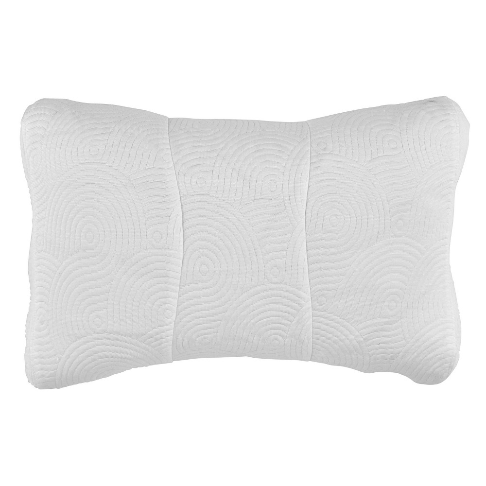 Image of One Size Cool Luxury Contour Pillow Protector with Zipper Closure - Tempur-Pedic