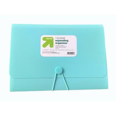7 Pocket Expandable File Folder Letter Size Teal - up & up™