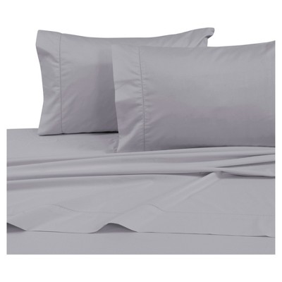 Cotton Sateen Deep Pocket Sheet Set (Queen) Silver Gray 750 Thread Count - Tribeca Living