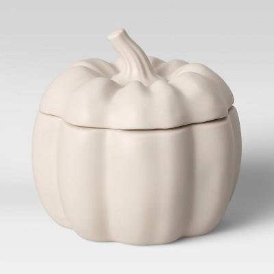 17.1oz Stoneware Pumpkin Soup Bowl White - Threshold™