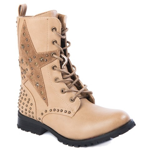 Gia-Mia Girls' Star Combat Boots - image 1 of 6