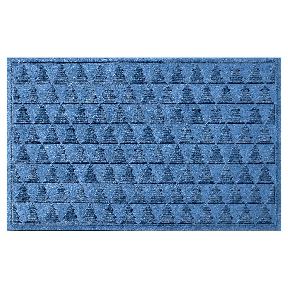Medium Blue Botanical Doormat - (3'X5') - Bungalow Flooring