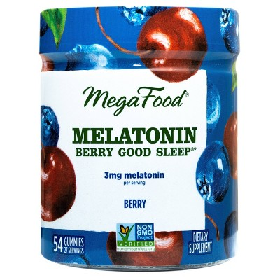 MegaFood Melatonin Berry Good Sleep Gummies - Berry - 54ct