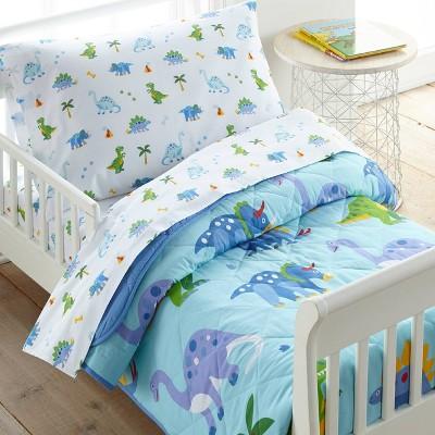 4pc Toddler Dinosaur Land Cotton Bed in a Bag - WildKin