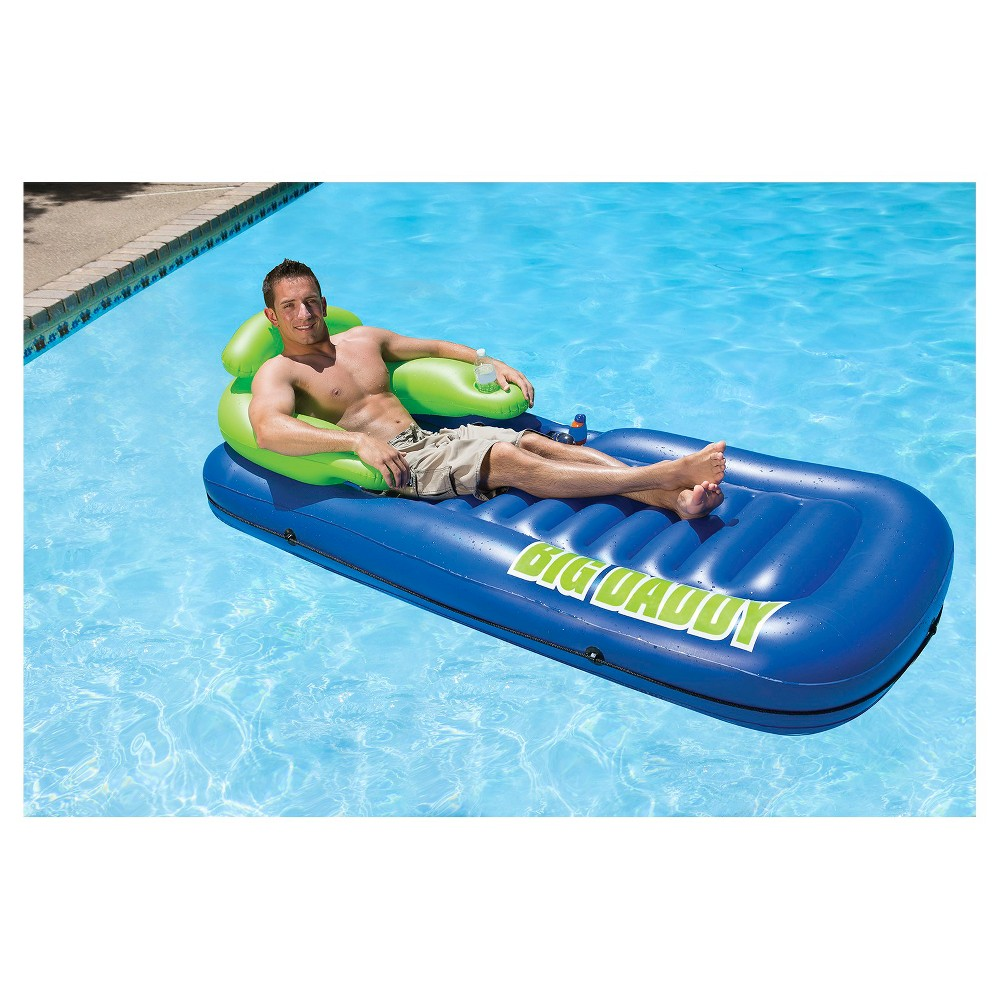 Poolmaster Big Daddy Lounge, Blue/Green