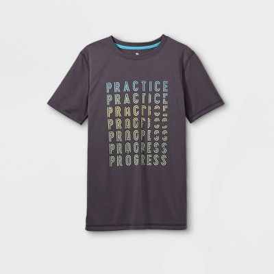 Boys' Short Sleeve 'Practice' Graphic T-Shirt - All in Motion™ Gray