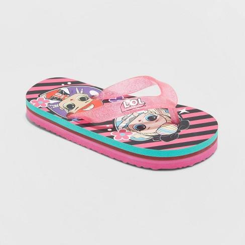 Girls' L.O.L. Surprise! Flip Flop Sandals - Pink - image 1 of 3