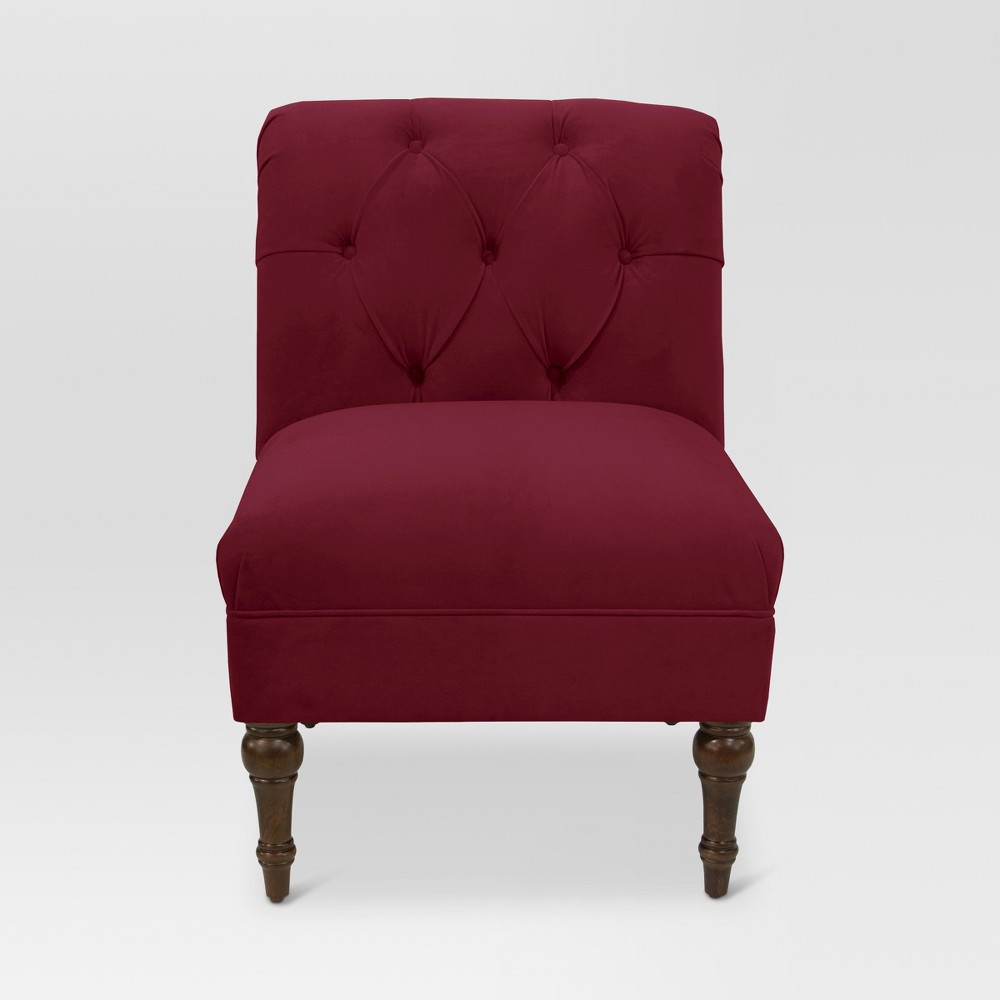 Arched Back Chair - Velvet Berry - Threshold