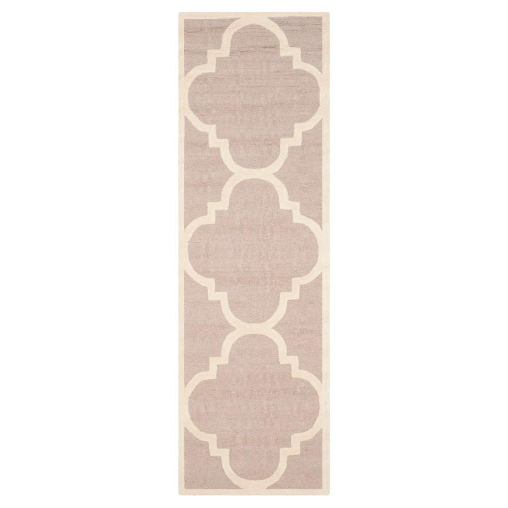 Landon Texture Wool Rug - Beige / Ivory (2'6 X 14') - Safavieh, Beige/Ivory