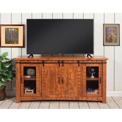 "Omaha 65"" Solid Wood TV Stand Honey Tobacco Finish - Martin Svensson Home"