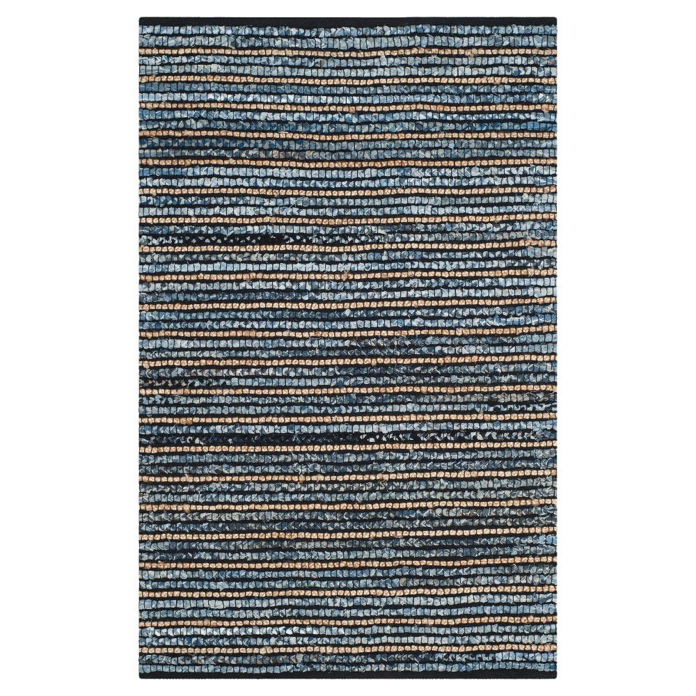 Sari Natural Fiber Accent Rug - Blue / Natural (3' X 5') - Safavieh