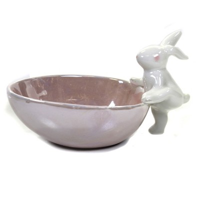 "Tabletop 4.0"" Egg Shaped Pearlized Candy Dish Easter Tidbit Snack Bunny One Hundred 80 Degree  -  Serving Bowls"