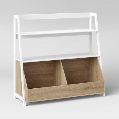 Bly Wide Bookshelf White - Pillowfort™