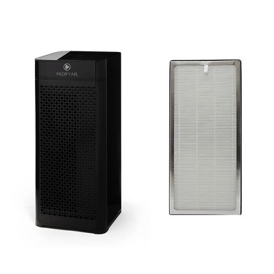Medify Air MA-40-B1 H13 HEPA Filter Tower Room Air Purifier, Black w/Medify Air MA-40 Home Air Purifier H13 HEPA Replacement Air Filter