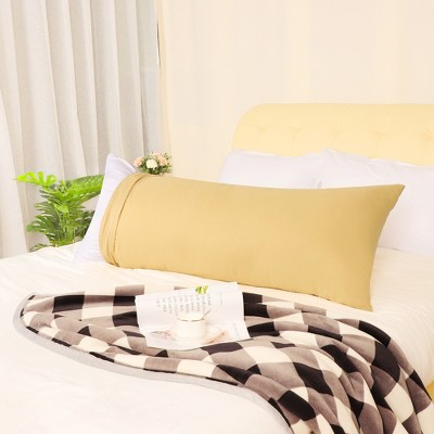 1 Pcs 401-600 Thread Count 1800 Series Soft Brushed Microfiber Pillow Case Gold - PiccoCasa