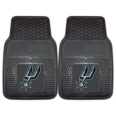 NBA San Antonio Spurs Vinyl Car Mat Set - 2pc