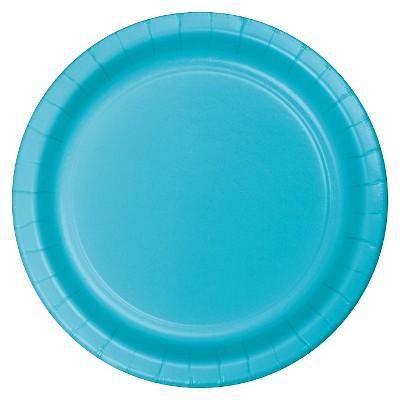 "Bermuda Blue 7"" Dessert Plates - 24ct"