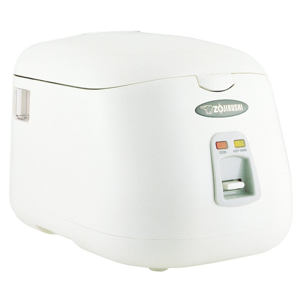 Zojirushi Electric Rice Cooker & Warmer - Herb White (5 cup) To cook white rice is simple, add rice, water and push a button. Though conventional rice cookers were designed to make perfect white rice, they also excel in making brown and sushi rice with just a few adjustments. They are also designed to simply heat, boil and turn themselves off, conveniently doubling as steamers. Automatic keep warm system keeps rice tasting fresh for up to 12 hours. Features a lock tight lid and side condensation collector. Size: 5 cup. Color: Herb White.