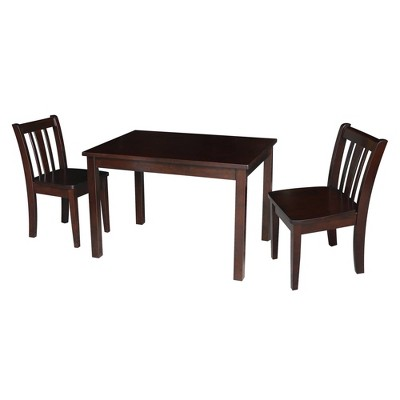 Kids' Table with 2 San Remo Juvenile Chairs Rich Mocha - International Concepts
