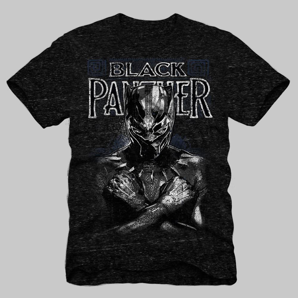 Men's Marvel Black Panther Short Sleeve Graphic T-Shirt - Black L