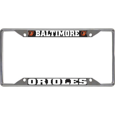 MLB Baltimore Orioles Stainless Steel License Plate Frame