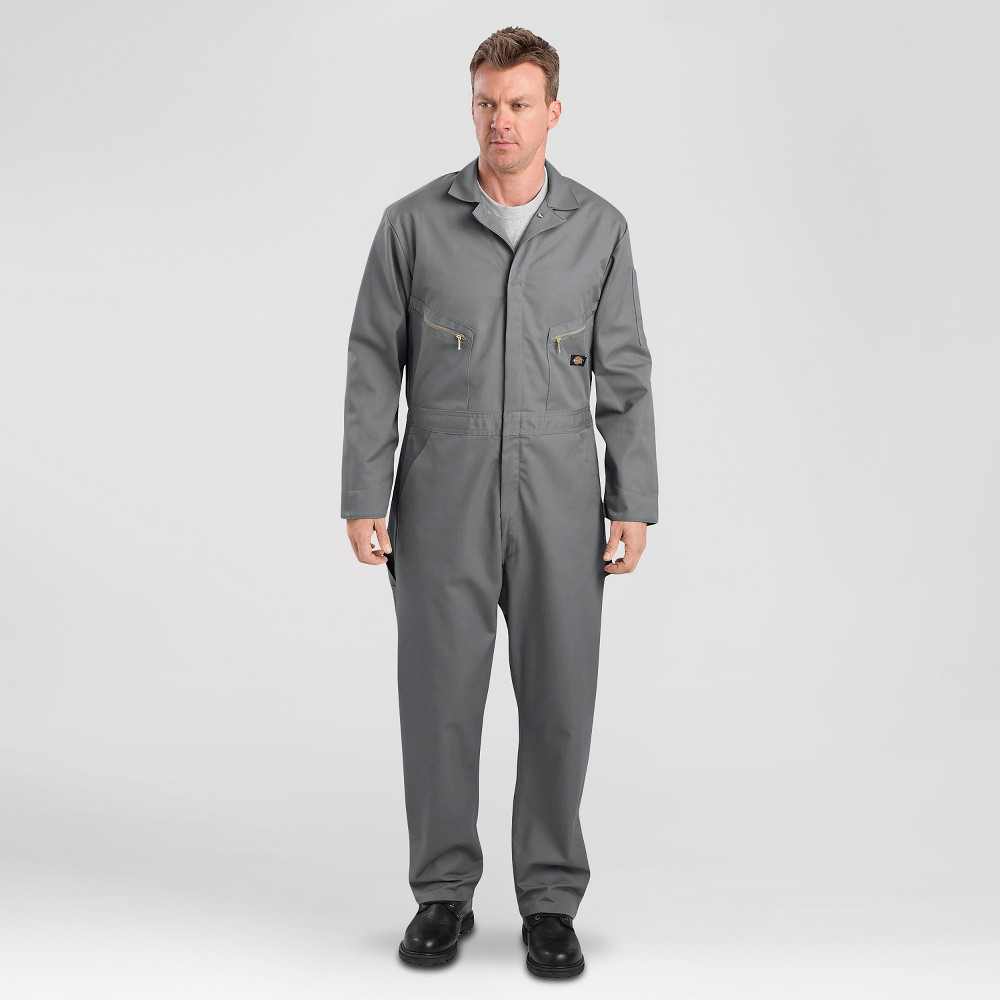 Dickies Men's Deluxe Long Sleeve Blended Twill Coverall- Gray Xxl