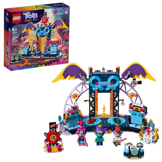 LEGO Trolls World Tour Volcano Rock City Concert 41254 Building Kit image number null