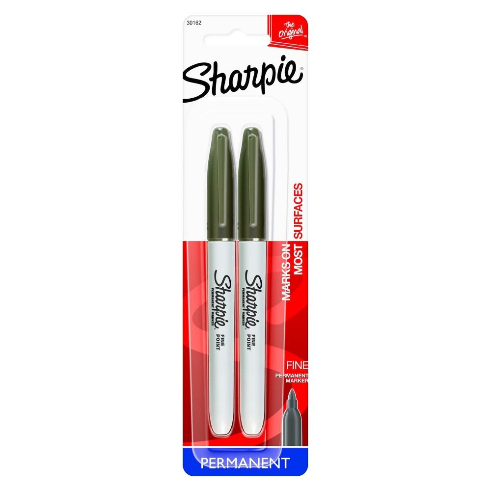 Sharpie Fine Tip Permanent Markers Black 2ct Price