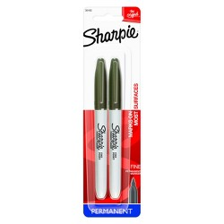 Sharpie Permanent Marker, Fine Tip, 2ct - Black