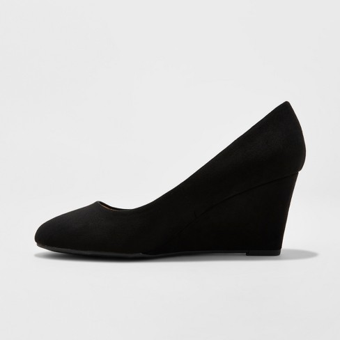 289283427 Women's Dot Round Toe Wedge Pumps - A New Day™ : Target