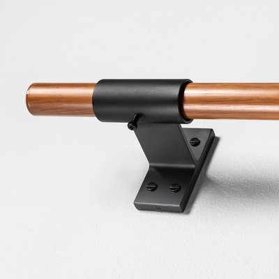 Steel Curtain Rod with Wood Pattern Finish - Hearth & Hand™ with Magnolia