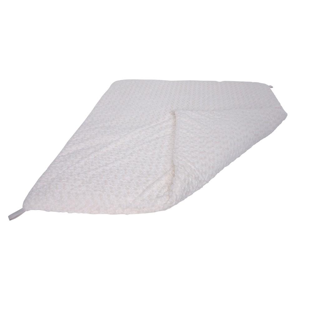 Pillowfort Teepee Mat Faux Fur - White - Pillowfort