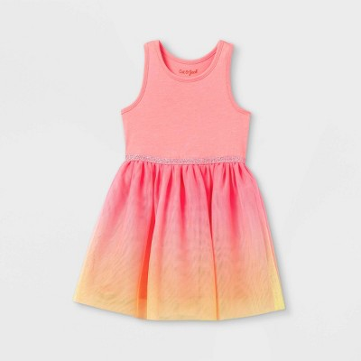 Toddler Girls' Ombre Tulle Tank Dress - Cat & Jack™ Pink/Yellow